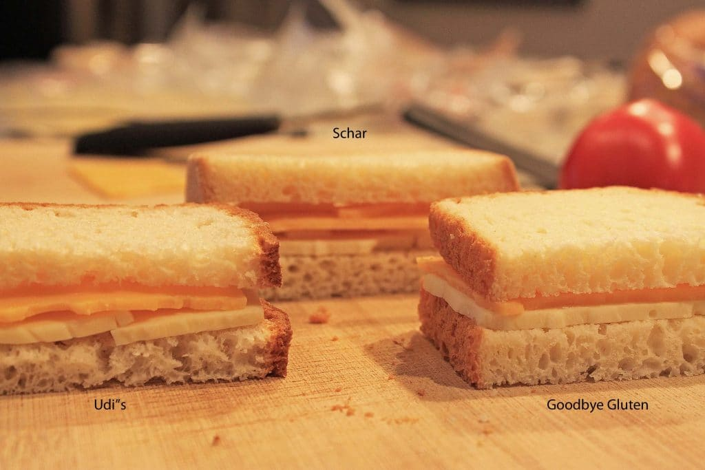 Gluten-free Bread Grilled Cheese (before)