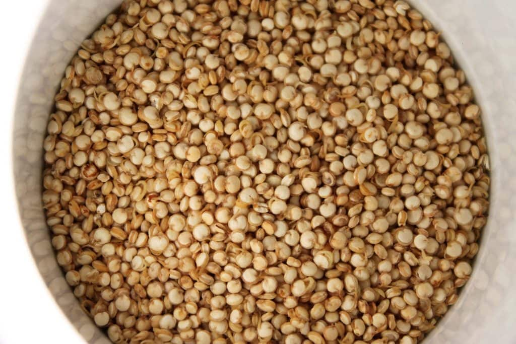Picture of raw quinoa