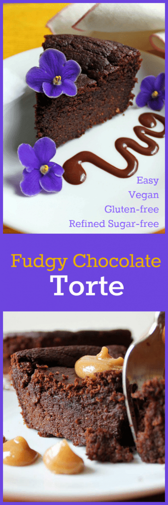Chocolate Fudgy Torte Collage