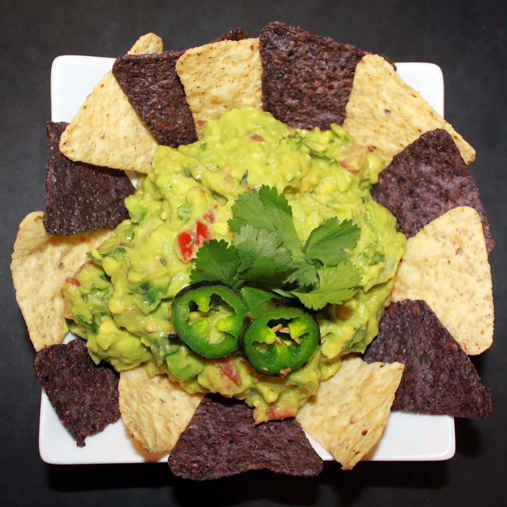 Three Chili Guacamole - Plated