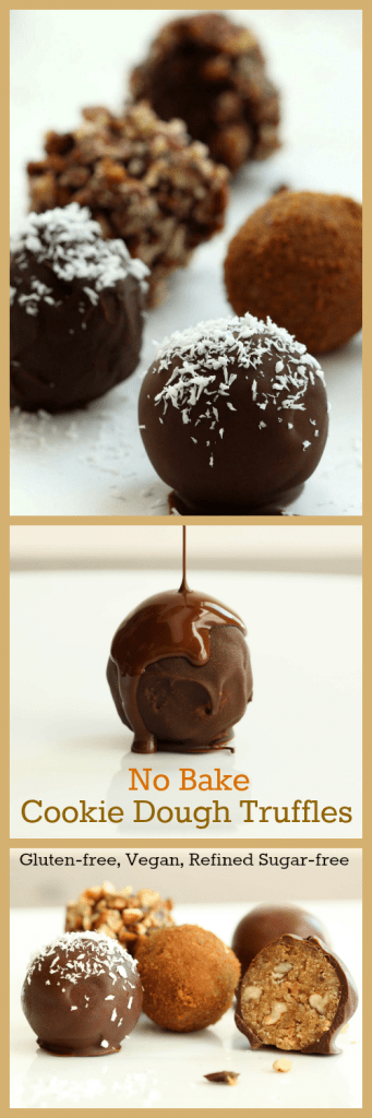 Cookie Dough Truffles Collage