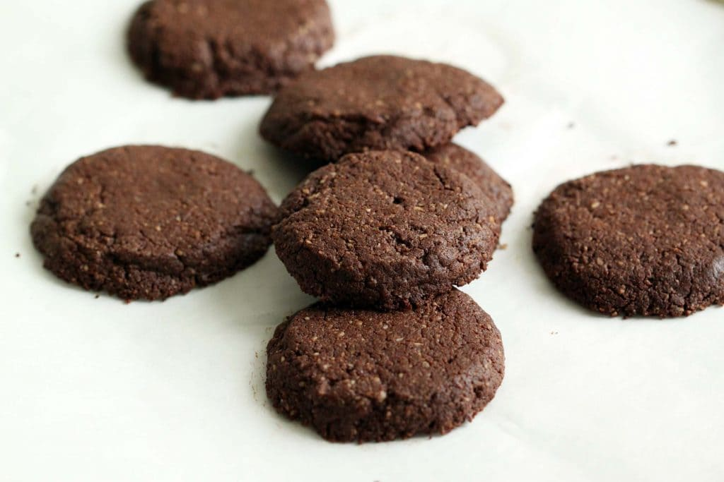 Choco Chip Cocoa Cookies Baked