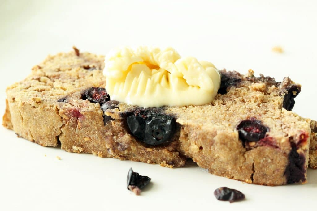 Toasted Lemon Berry Biscuit Bread with Vegan Butter