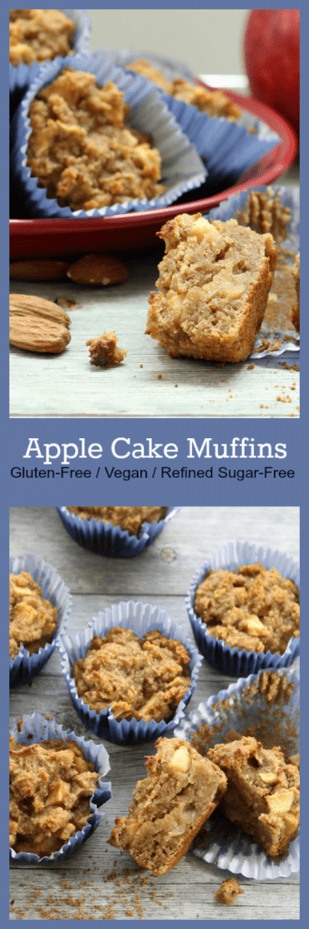 Apple Cake Muffins Collage