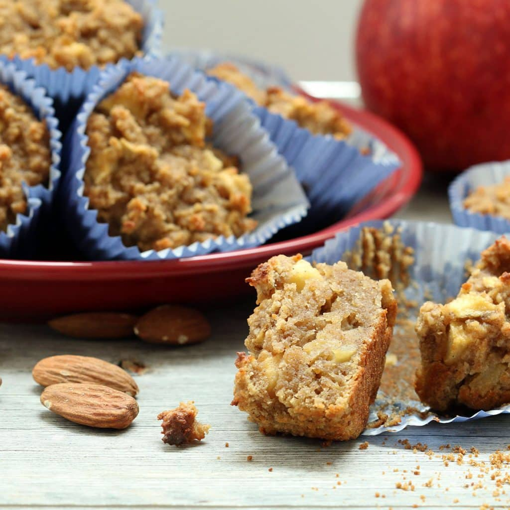 Apple Cake Muffins Square