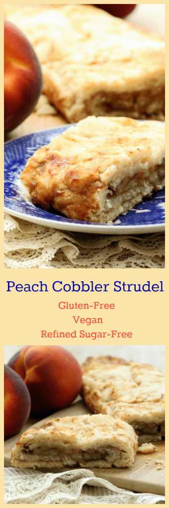 Peach Cobbler Strudel Collage