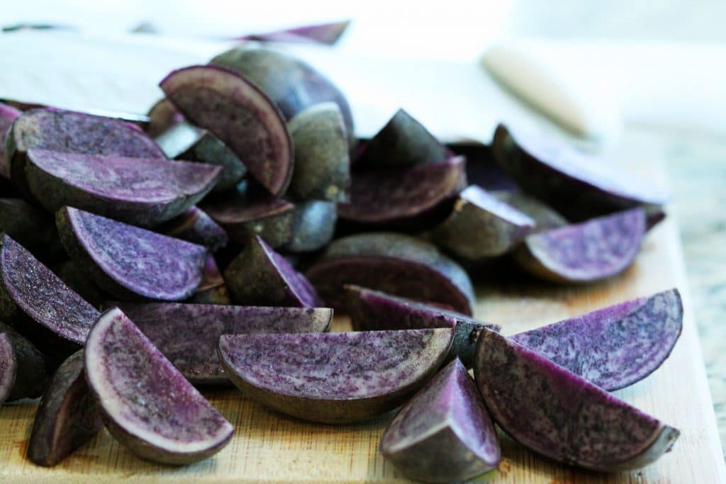 Raw Purple Potatoes