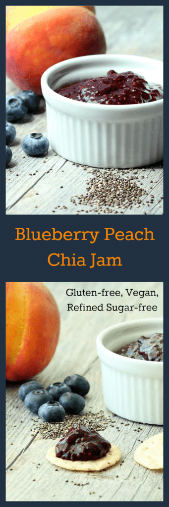 Blueberry Peach Chia Jam Collage