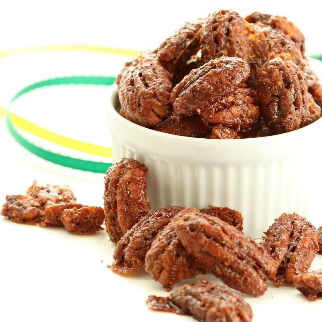 Candied Pecans Served