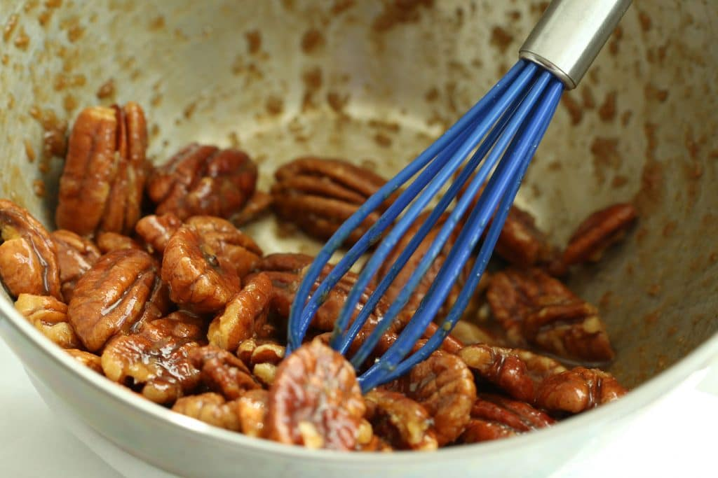 Candied Pecans In Flax Mixture