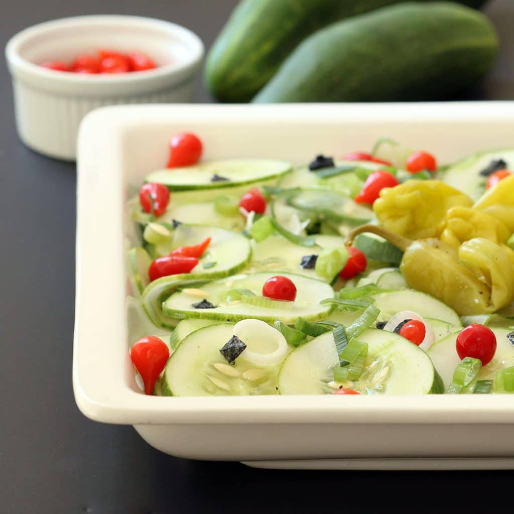 Cucumber Salad Plated