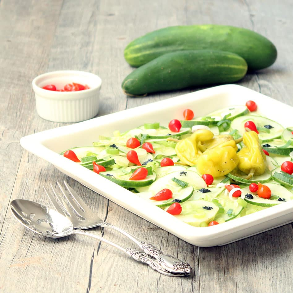 Sweety Drop Pepper Cucumber Salad