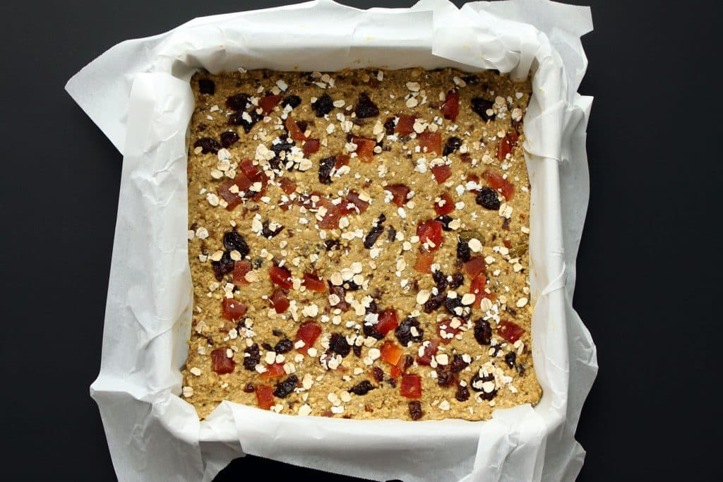 Morning Glory Protein Bars Before Baking