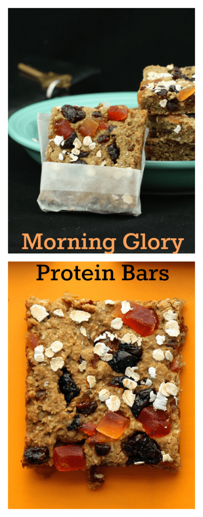 Morning Glory Protein Bars Collage
