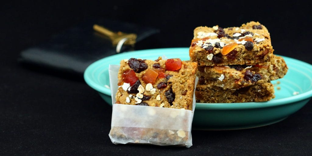 Morning Glory Protein Bars Plated