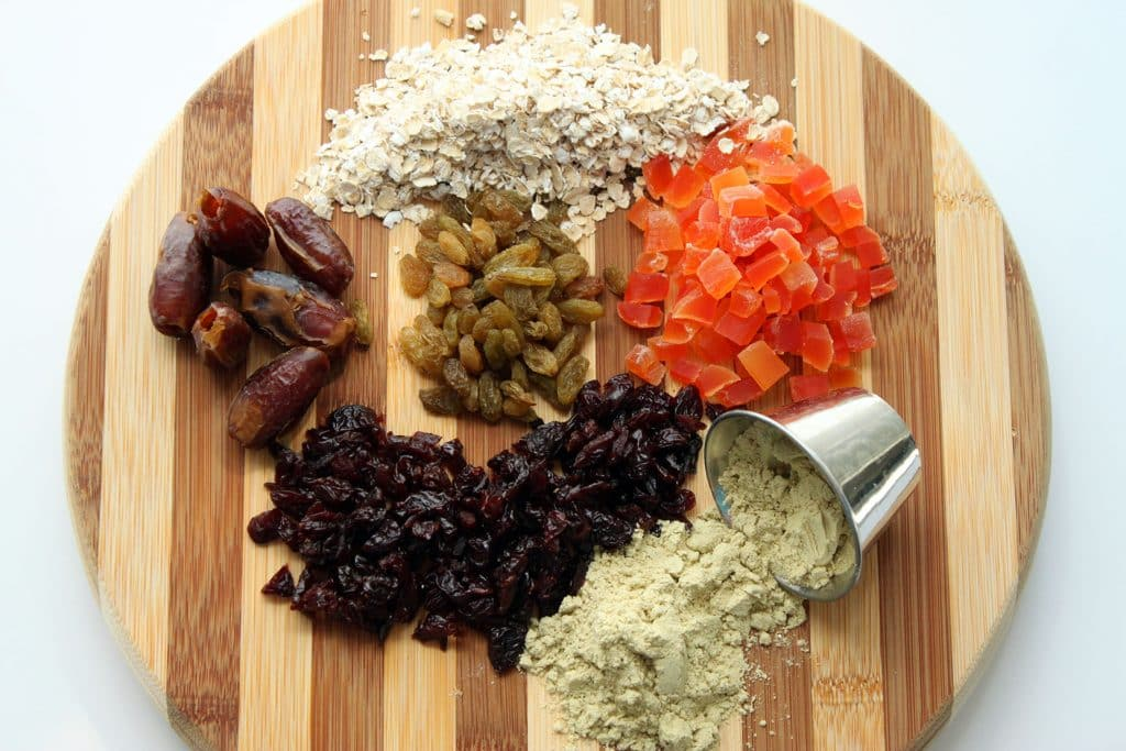 Morning Glory Protein Bars Raw Ingredients