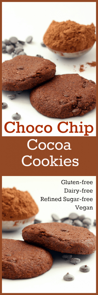 Choco Chip Cocoa Cookies Collage