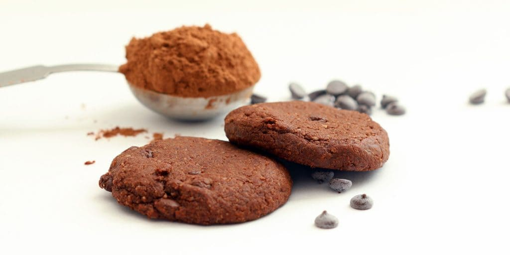 Choco Chip Cocoa Cookies Plated