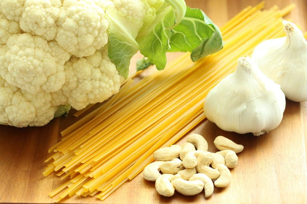 Vegan Alfredo Raw Ingredients