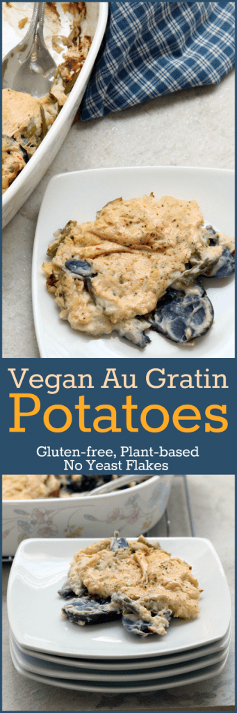 Vegan Au Gratin Potatoes Collage