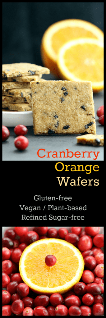 Cranberry Orange Wafers - Collage