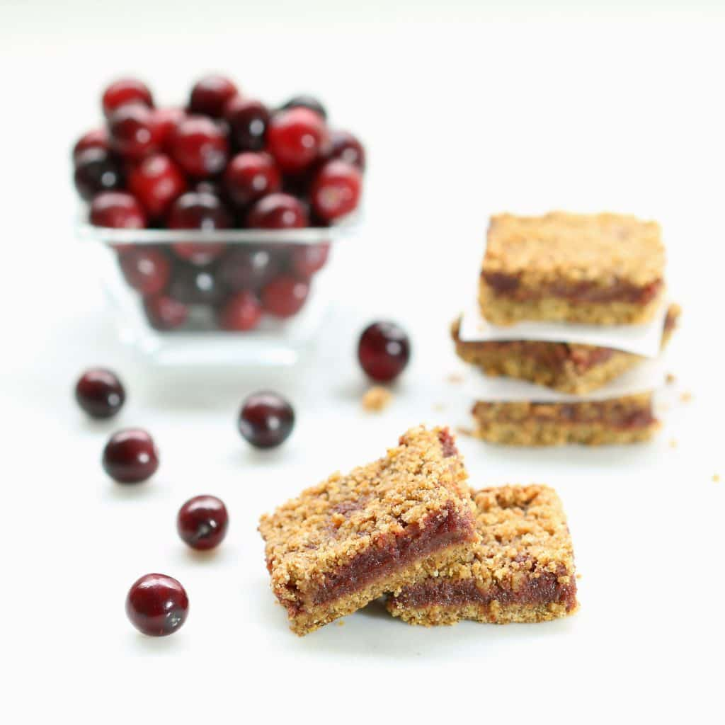 Fresh Cranberry Crumb Bars