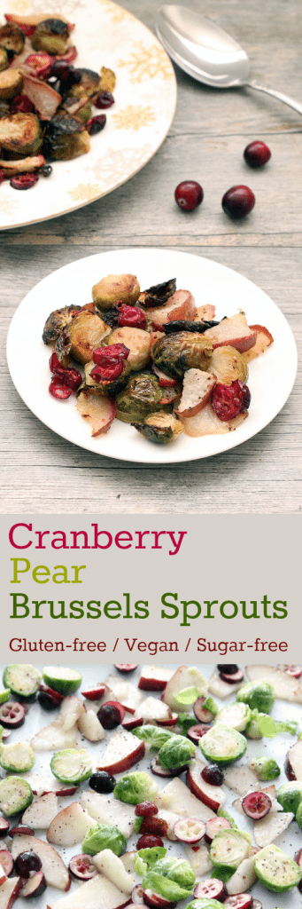 Cranberry Pear Brussels Sprouts Collage