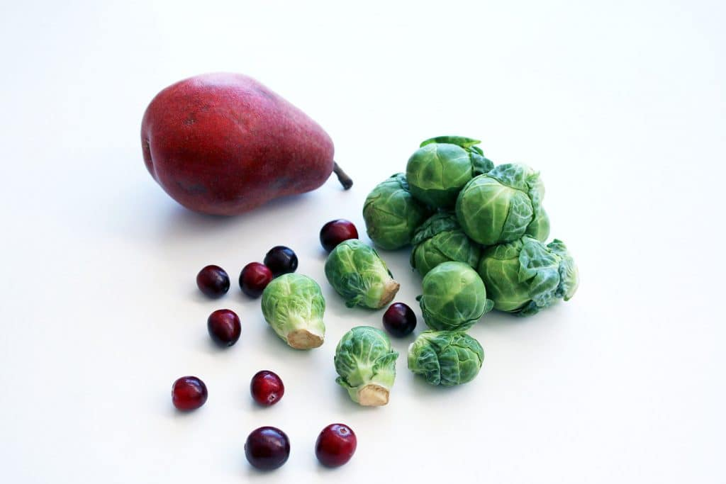 Cranberry Pear Brussels Sprouts - Main Ingredients