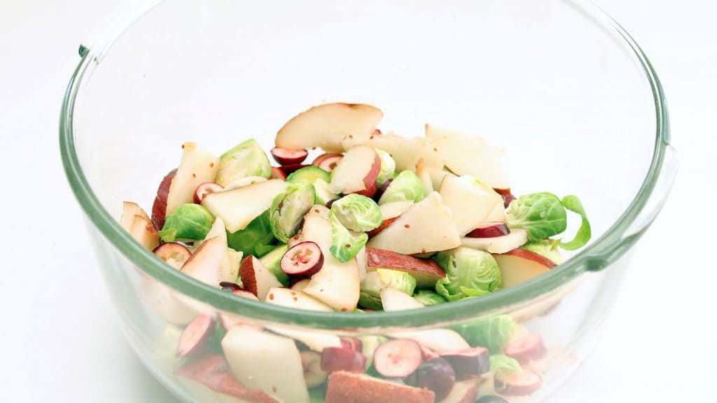 Cranberry Pear Brussels Sprouts - Ready for Oil