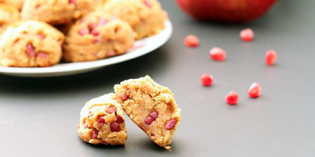 Golden Pomegranate Scones