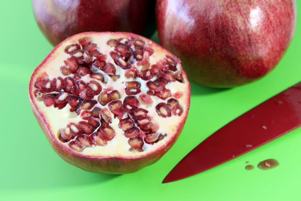 Pomegranate Seed Removal - Cutting the Fruit