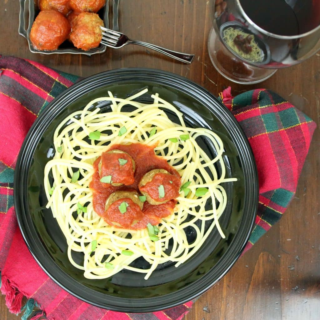 Vegan Italian Meatballs and Gluten-Free Pasta