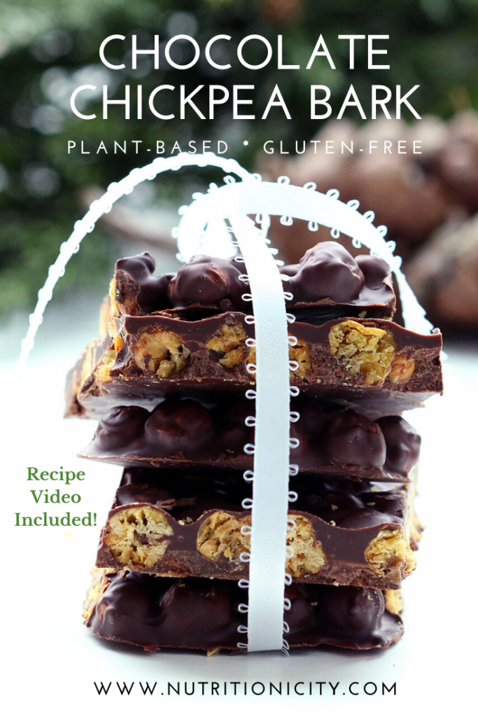 Chocolate Chickpea Bark Pin