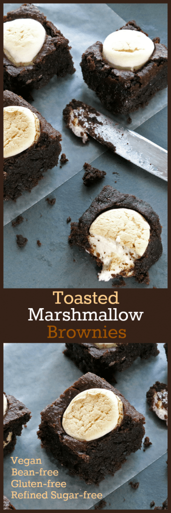 Toasted Marshmallow Brownies Collage