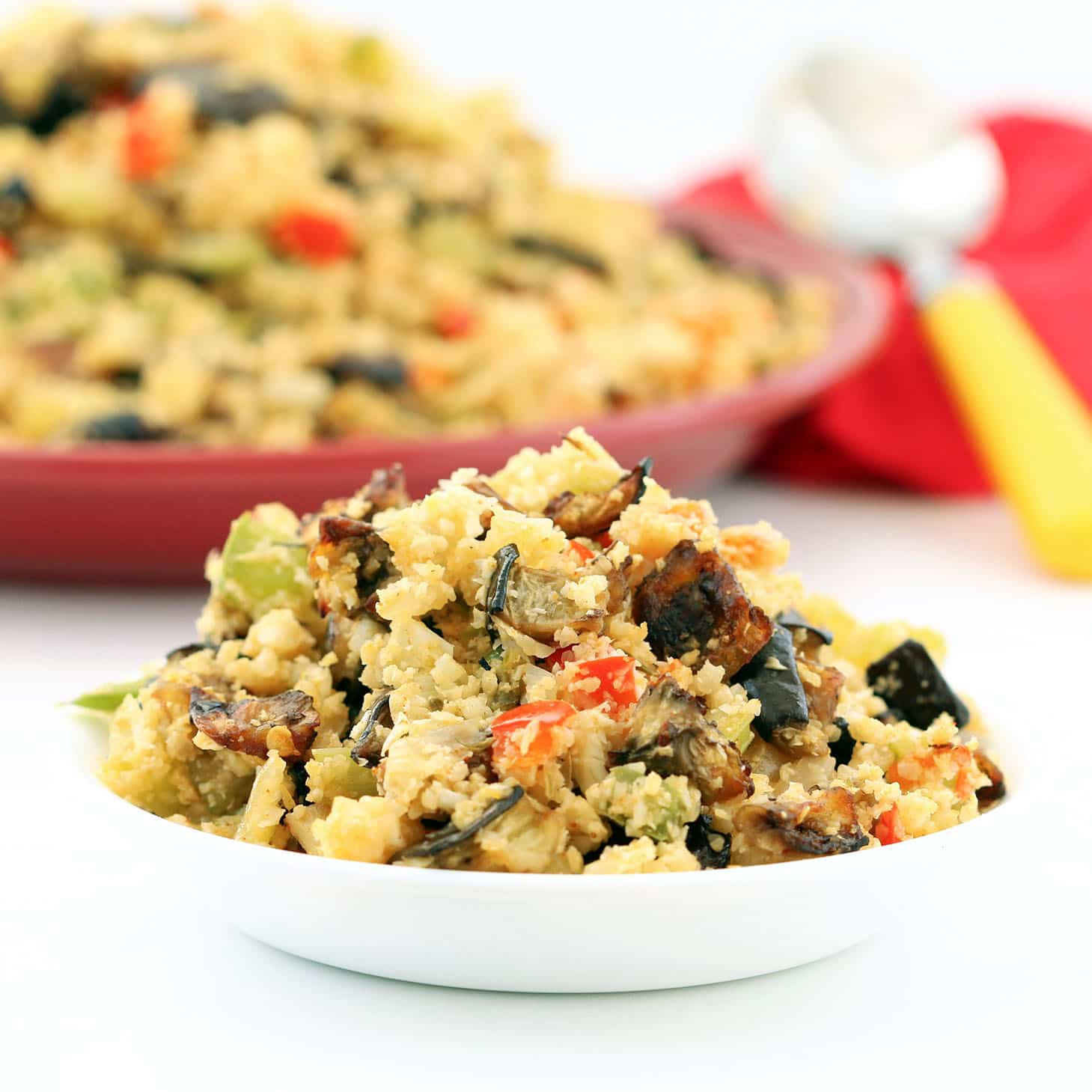 "Eggplant Cauliflower Dirty ""Rice"" (Gluten-Free, Vegan / Plant-based, Low-carb)"