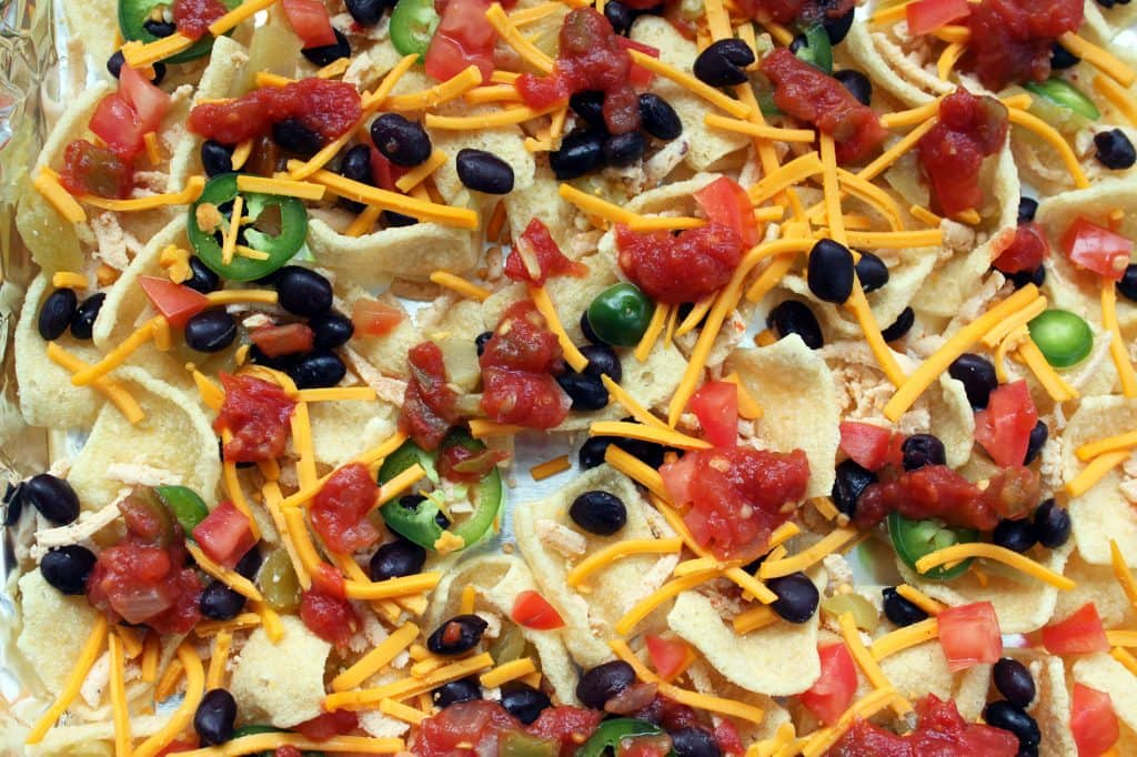 Healthy Plant-Based Nachos - First Layer