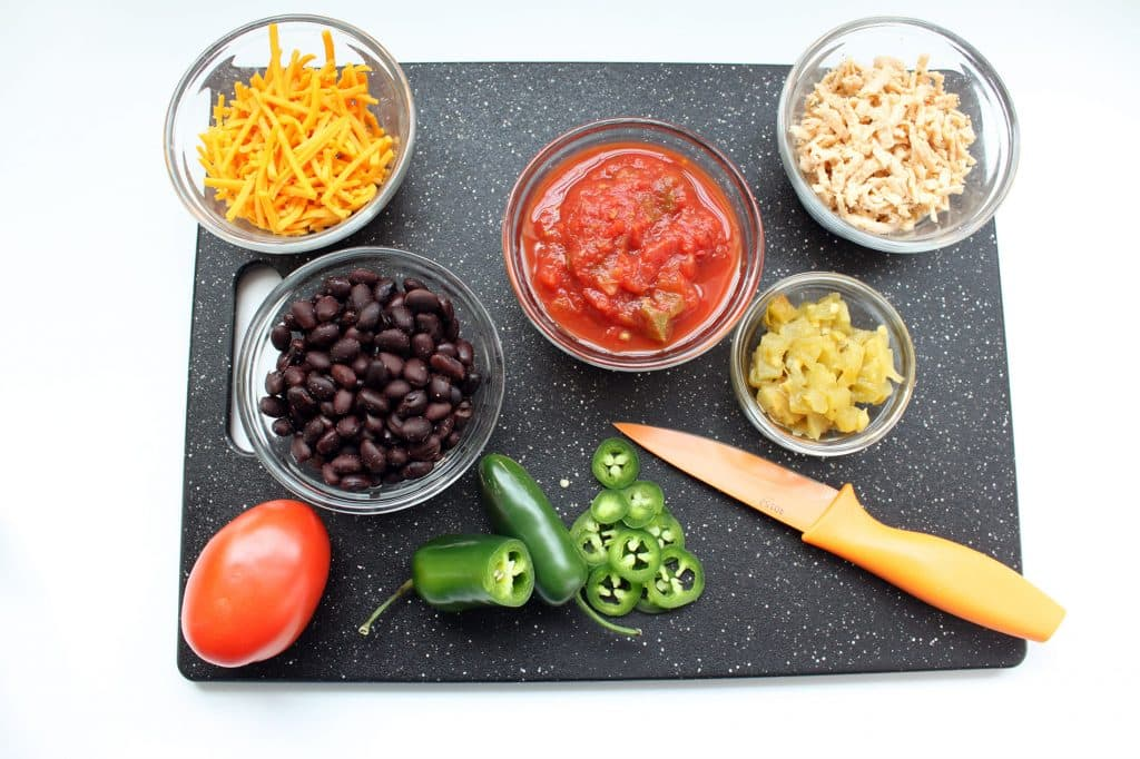 Healthy Plant-Based Nachos - Raw Ingredients