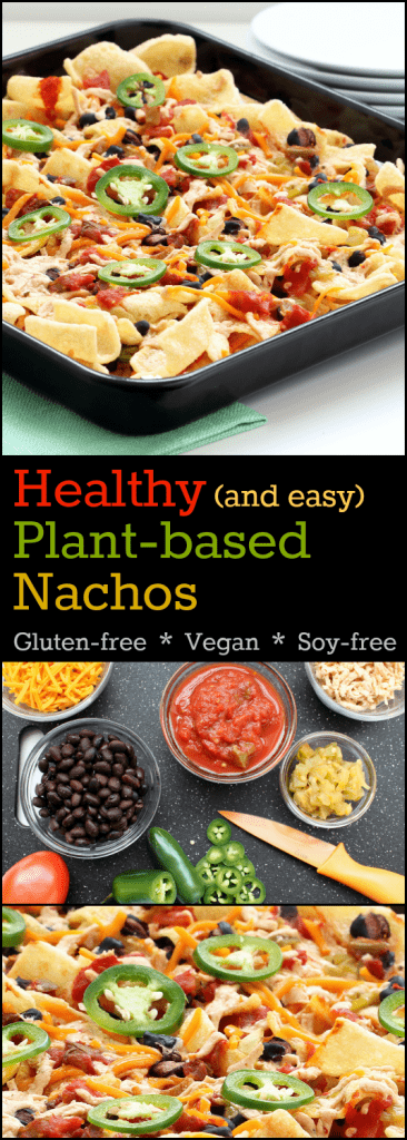 Healthy Plant-based Nachos Collage