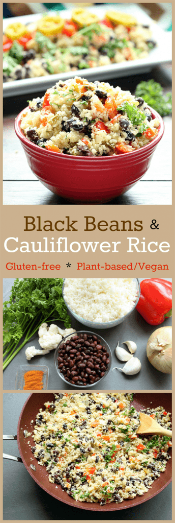 Black Beans and Cauliflower Rice