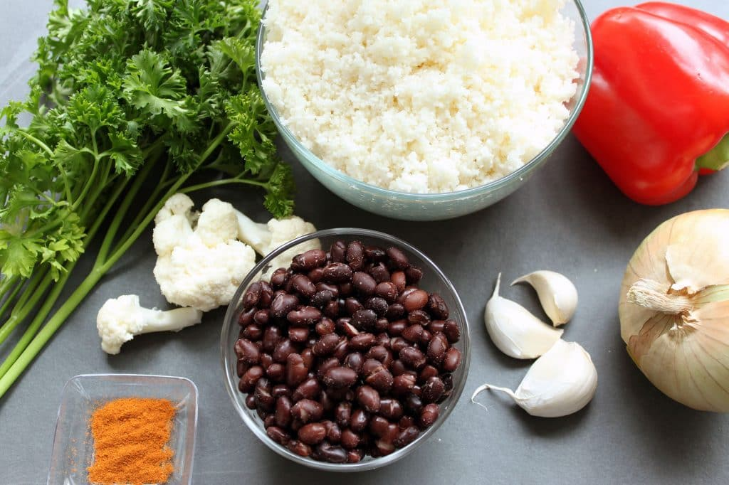 Black Beans and Cauliflower Rice - Ingredients