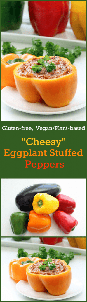 Cheesy Eggplant Stuffed Peppers