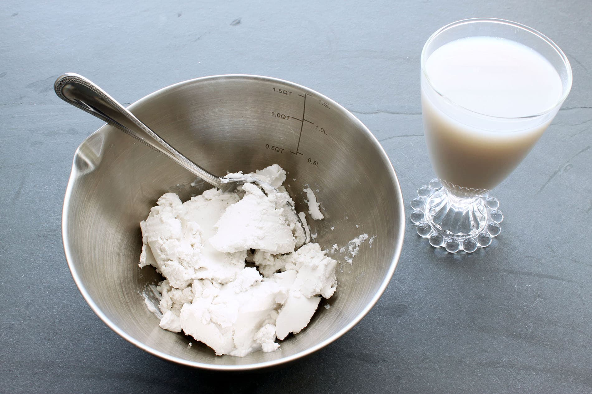 Coconut Whipped Cream - Coconut Cream in Bowl