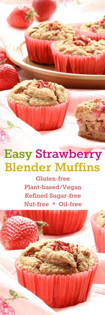 Easy Strawberry Blender Muffins