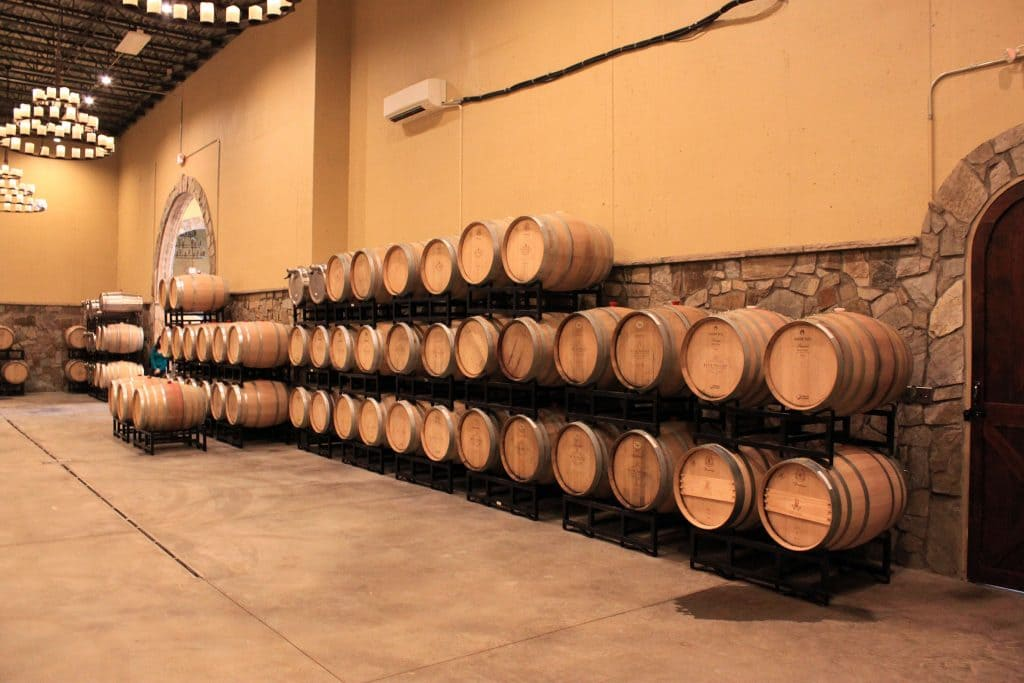 Blue Valley Winery - Barrel Room