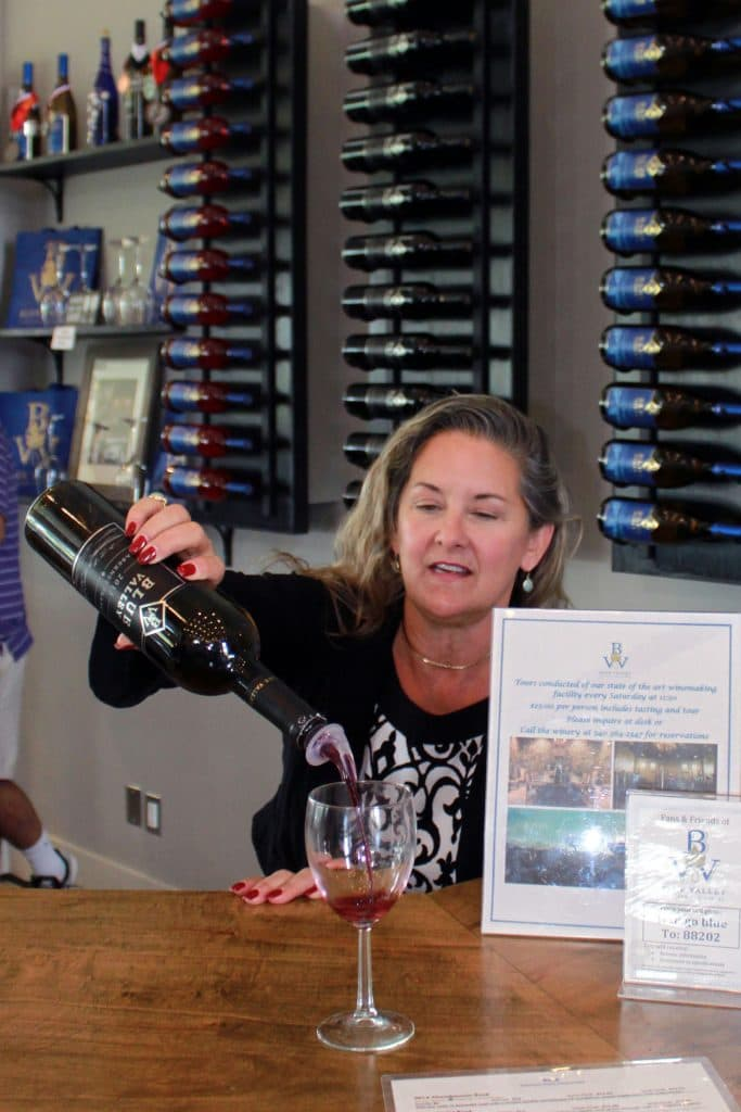 Blue Valley Winery - Candy Pouring Cabernet Franc