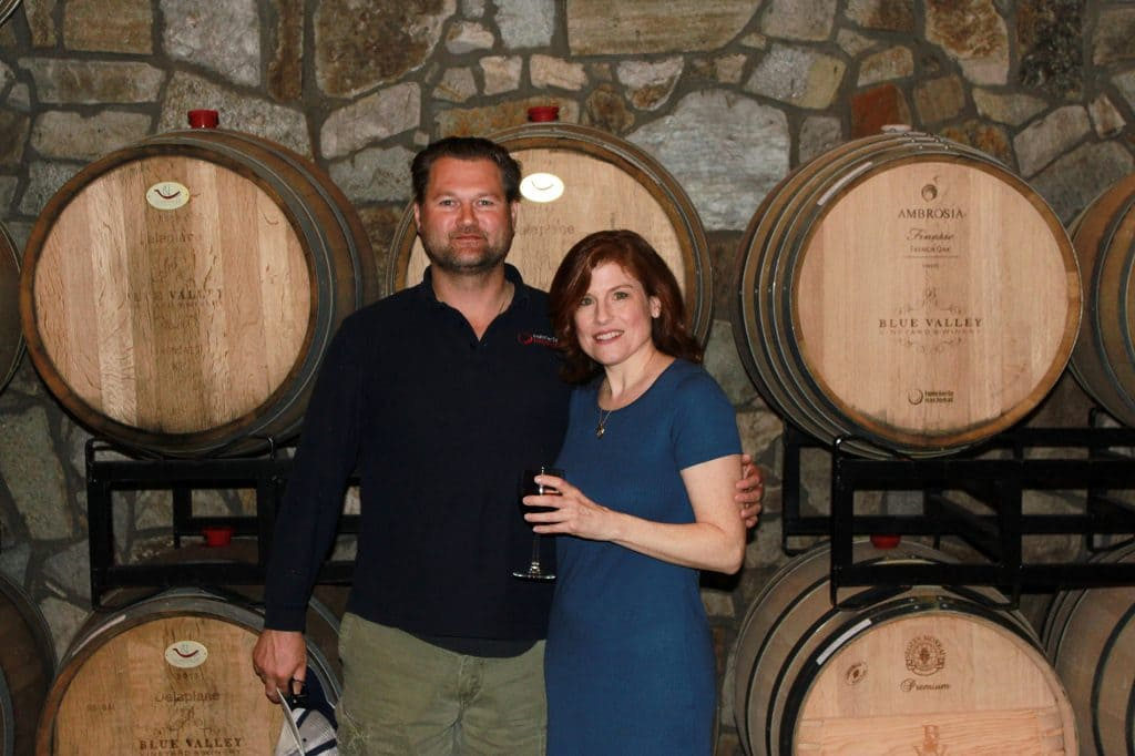Blue Valley Winery - Jana and Stergio