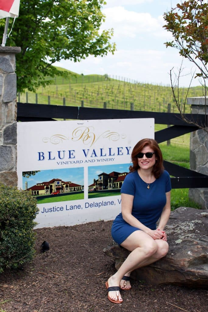 Blue Valley Winery - Welcome Sign