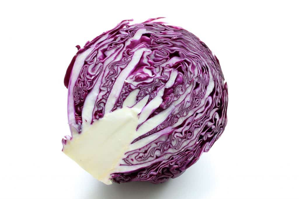 Roasted Slaw with Roasted Garlic Lemon Dressing - Red Cabbage