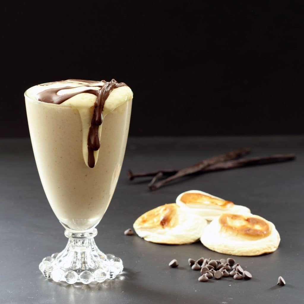 Toasted Marshmallow Vegan Smoothie (Gluten-free, Plant-based, Refined Sugar-free)
