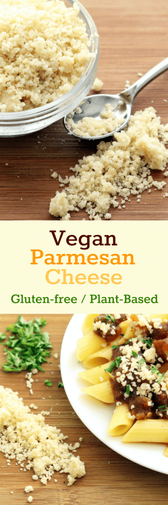 Vegan Parmesan Cheese Collage